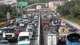 Massive traffic jam in Chinese city Footage