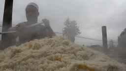 Street food - fresh pilaf in Kashgar Stock Video Footage