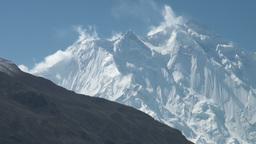 Majestic Rakaposhi mountain in Northern Pakistan Stock Video Footage