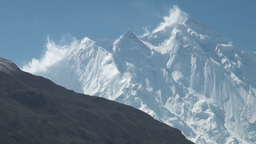 Majestic Rakaposhi Mountain In Northern Pakistan stock footage
