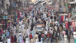 Bazaar, busy, people, Pakistan Stock Video Footage