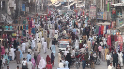 Bazaar, busy, people, Pakistan Footage