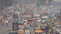 Pakistan traffic seen from above Stock Video Footage