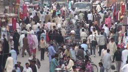 Busy bazaar in Rawalpindi, Pakistan Stock Video Footage