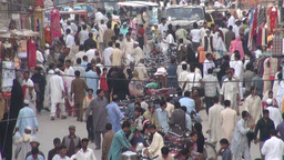 Busy bazaar in Rawalpindi, Pakistan Stock Video Footage