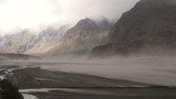 Sandstorm in Indus Valley, Pakistan Stock Video Footage