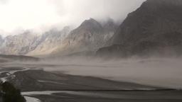Sandstorm in Indus Valley, Pakistan Footage