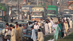 Traffic, people, busy, chaos, Pakistan, colorful Footage