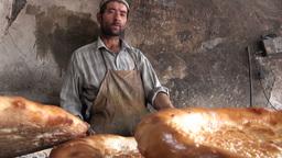 Uyghur, bread, fresh, bakery, China Stock Video Footage