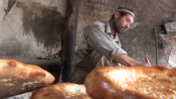 Uyghur, bread, fresh, bakery, China Stock Video Footage