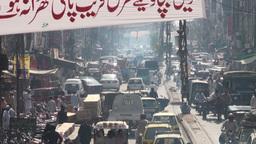 Traffic, Pakistan, Rawalpindi, city, pumping Stock Video Footage