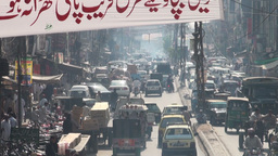 Traffic, Pakistan, Rawalpindi, city, pumping Stock Video Footage