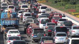 Traffic jam, China Stock Video Footage