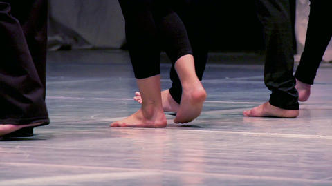 Barefoot dancers Stock Video Footage