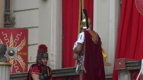 roman legionaries 03 Stock Video Footage