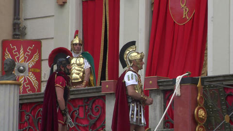 roman legionaries 05 Stock Video Footage