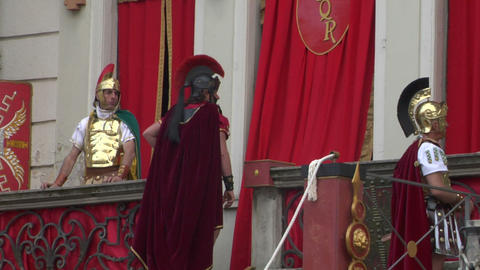 roman legionaries 05 Stock Video Footage