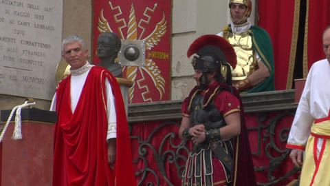 roman procurator 07 Stock Video Footage