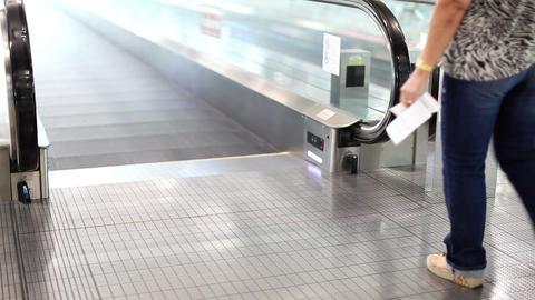 Moving sidewalk in airport Footage
