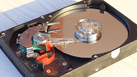 Inside of the HDD Stock Video Footage