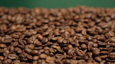coffee in motion close-up chroma key background Stock Video Footage