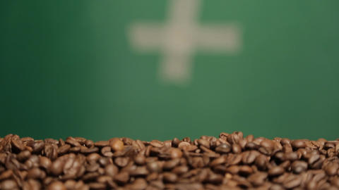 coffee in motion close-up chroma key background Footage