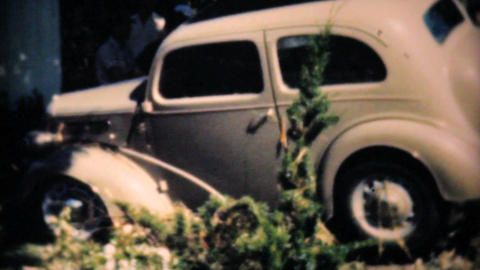 Old Cars Damaged By Dallas Flood 1948 Vintage 8mm Stock Video Footage