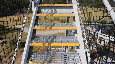 Fast Tower Climb stock footage