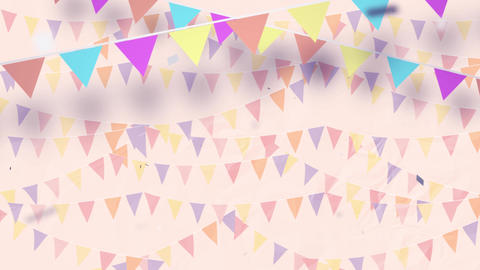 Multi-colored Confetti Exploding beautiful Party background Seamless Loop Animation