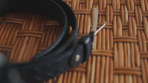 Men's shoes and belt Stock Video Footage