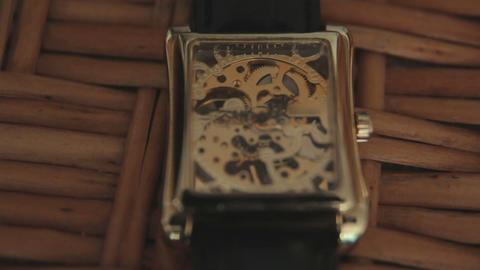 Watch mechanism macro loop Footage