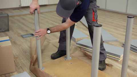 Assembling Table for Sales Manager Footage
