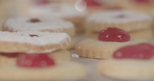 Baker preparing cookies in a bakery Footage