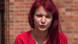 Adorable Teen Girl Waving Live Action
