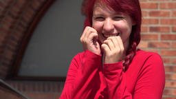Adorable Cute Teen Girl Wearing Red Live Action