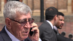 Upset Or Disappointed Boss Or Senior Executive Talking On Phone Footage