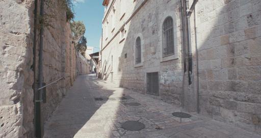 The Via Dolorosa in old city Jerusalem, Israel Footage