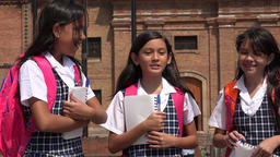 School Girls Laughing Having Fun Footage