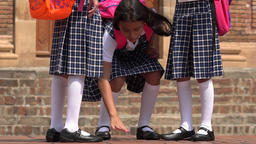 School Girls Wearing Skirts Footage