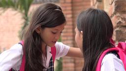 Student School Girls Talking Live Action