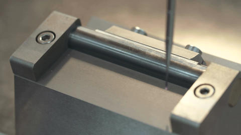 Precision measurement of metal parts by a XYZ machine Footage