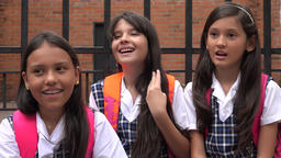 Adorable School Girls Laughing Live Action