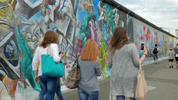 Berlin Wall - East side gallery, Germany Footage