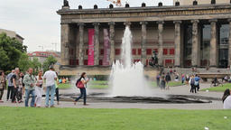 The Altes Museum (Old Museum) in Berlin, Germany Stock Video Footage