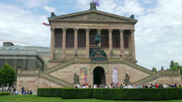 The Old National Gallery (Alte Nationalgalerie) in Berlin Footage