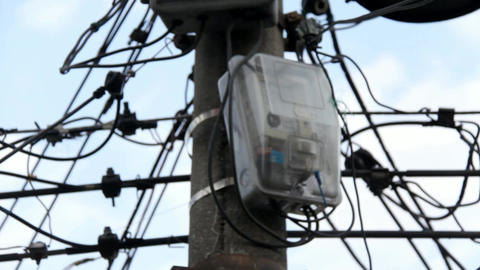 Utility Box On Telephone Pole Live Action
