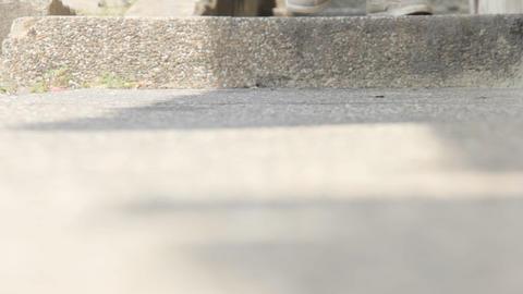 Feet Walking On Steps Stock Video Footage