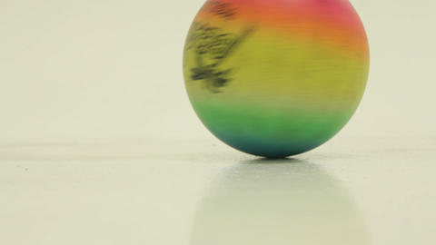 Spinning A Rainbow Colored Ball Footage