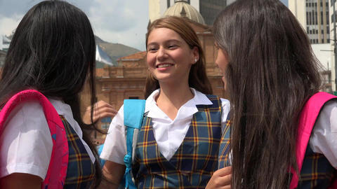 Female Student Friends Meet Footage