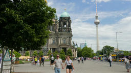 Berlin, Germany. City Life Scene Live Action